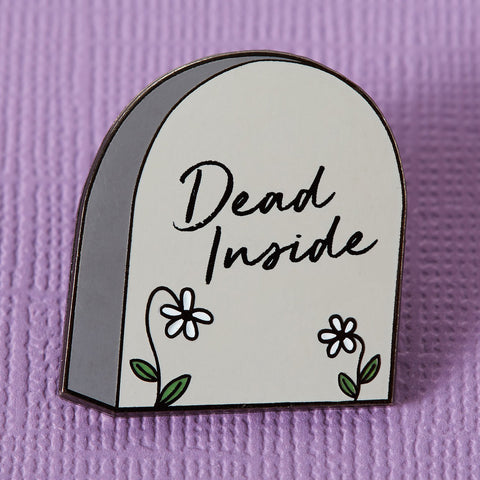 Punky Pins Dead Inside Tomestone Enamel Pin | Angel Clothing