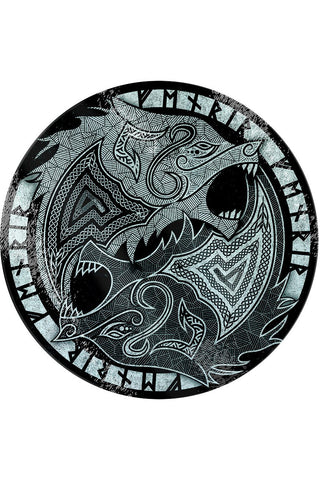 Fenrir the Wolf Glass Chopping Board | Angel Clothing
