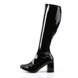 Funtasma Block Heel Patent PVC Boots GOGO-300 | Angel Clothing