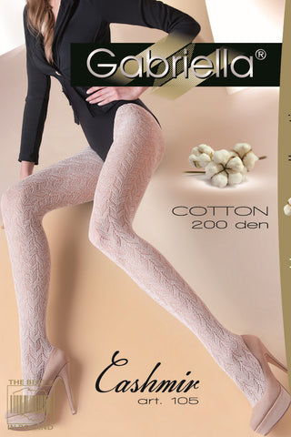 Gabriella Cashmir Tights Latte | Angel Clothing