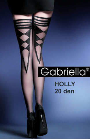 Gabriella Holly Holdups Nero | Angel Clothing