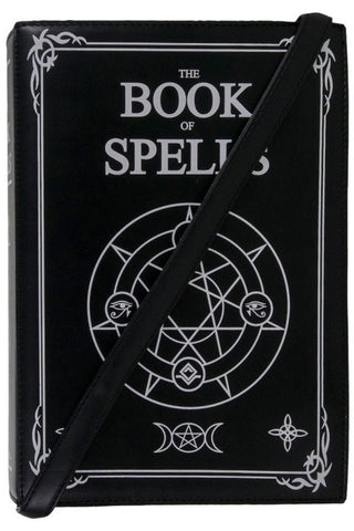 GothX Large Book of Spells Shoulder Bag | Angel Clothing