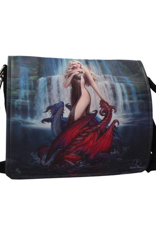 James Ryman Dragon Bathers Embossed Shoulder Bag | Angel Clothing