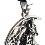 Echt etNox Howling Wolf in Moon pendant 925 silver | Angel Clothing