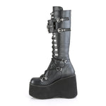 Demonia Black Vegan Leather Boots KERA-200 | Angel Clothing