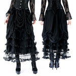 Dark in Love Tiered Net Gothic Skirt | Angel Clothing