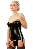 LATE-X Latex Corsage with Suspender Straps | Angel Clothing