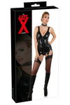 LATE-X Black Latex Basque | Angel Clothing