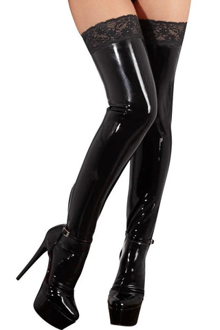 LATE-X Ladies Latex Stockings | Angel Clothing