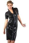 LATE-X Black Latex Dress | Angel Clothing