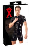 LATE-X Mens Latex Playsuit | Angel Clothing