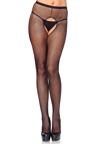 Leg Avenue Crotchless Fishnet Pantyhose | Angel Clothing