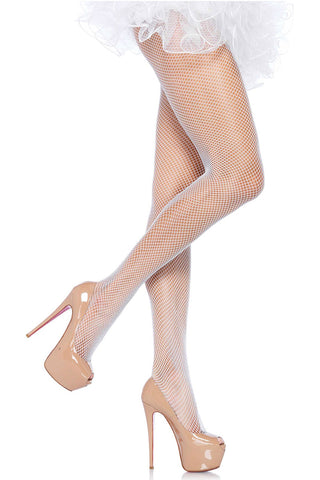 Leg Avenue Plus Size White Fishnet Pantyhose | Angel Clothing