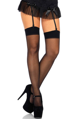 Leg Avenue Plus Size Sheer Stockings | Angel Clothing