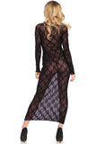 Leg Avenue Long Sleeved Long Dress | Angel Clothing
