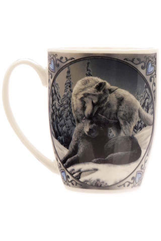 Lisa Parker Snow Kisses Wolf Mug | Angel Clothing