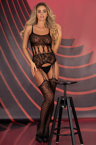 Livia Corsetti Sobren Bodystocking Black