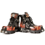 New Rock Red Flame Ankle Boots, M.288-S1 | Angel Clothing