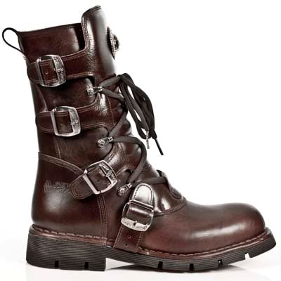 New Rock Brown Leather Boots M.1473-S8 | Angel Clothing