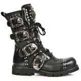 New Rock Studded Black Boots M-1474-S1 | Angel Clothing