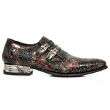 New Rock Red Newman Floral Embossed Shoes M.2246-S28 | Angel Clothing
