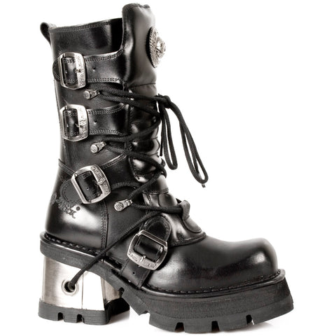 New Rock Black Boots M.373-S33 | Angel Clothing