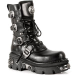 New Rock Black Calf Length Boots M.373-S4 | Angel Clothing