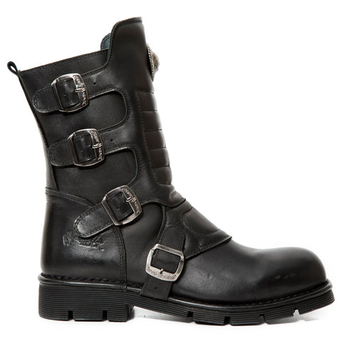 New Rock Black Wild Comfort Boots M.373X-S10 | Angel Clothing