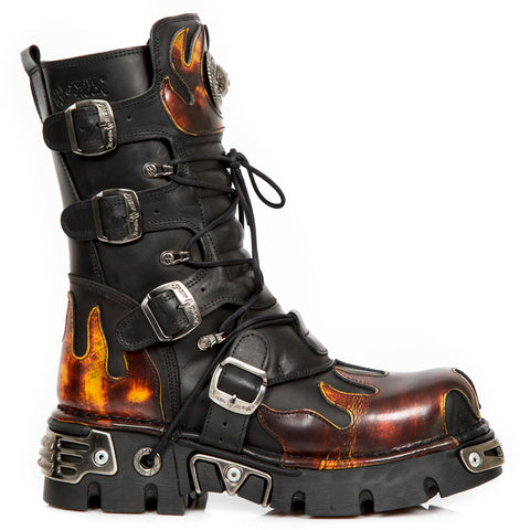 New Rock Red Flame Boots, 591 Red Flame Boots | Angel Clothing