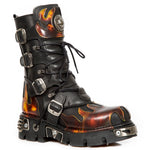 New Rock M.591-S1 Boots Red Flame | Angel Clothing