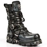 New Rock M591 S2 Silver Flames Boots | Angel Clothing