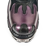New Rock M591 S5 Boots Purple Flame | Angel Clothing