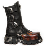 New Rock M.591X S1 Boots Red Flame | Angel Clothing
