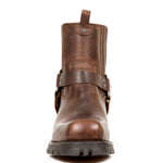 New Rock Brown Motorcycle Ankle Boots M.7605-S20 | Angel Clothing