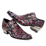 New Rock Purple Embossed Vintage Flower Shoes M.7960-S6 | Angel Clothing