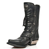 New Rock Black Cowboy Boots M.7993-S1 | Angel Clothing