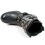 New Rock Skull and Studs Motorock Boots M.MR019-S1 | Angel Clothing