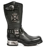 New Rock Iron Cross Motorock Boots M.MR030-S1 | Angel Clothing