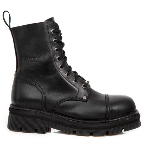 New Rock Black Combat Boots M.NEWMILI083-S14 | Angel Clothing