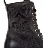 New Rock Embroidered Fleur De Lys Boots M.NEWMILI118-S1 | Angel Clothing