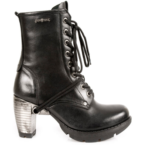 New Rock Black Steel Trail Boots M.TR001-S1 | Angel Clothing