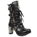 New Rock Trail Boots with Cross and Bats M.TR090-S1 | Angel Clothing