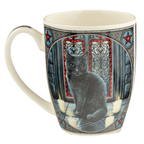 Sacred Circle Cat Mug by Lisa Parker | Angel Clothing