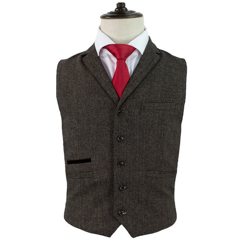Martez Brown Tweed Waistcoat | Angel Clothing