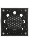 Moon Phase Crystal Grid Altar Cloth | Angel Clothing