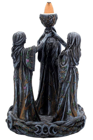 Mother Maiden and Crone Backflow Incense Burner | Angel Clothing