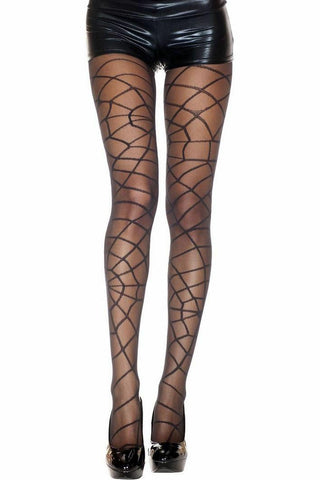 Music Legs Spider Web Spandex Pantyhose | Angel Clothing