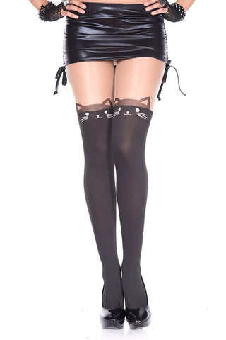 Music Legs Cat Tights | Angel Clothing