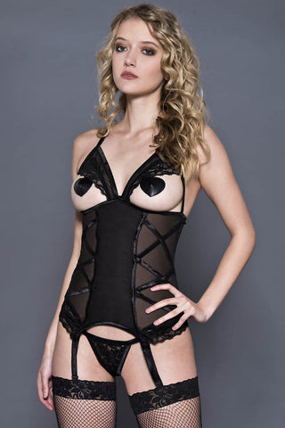 Music Legs Criss Cross Garter Chemise | Angel Clothing