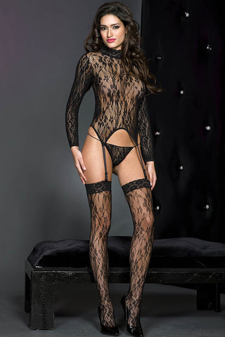 Music Legs Lace Cami Garter | Angel Clothing